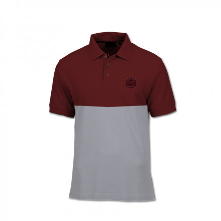 Polo majica - Bordo siva